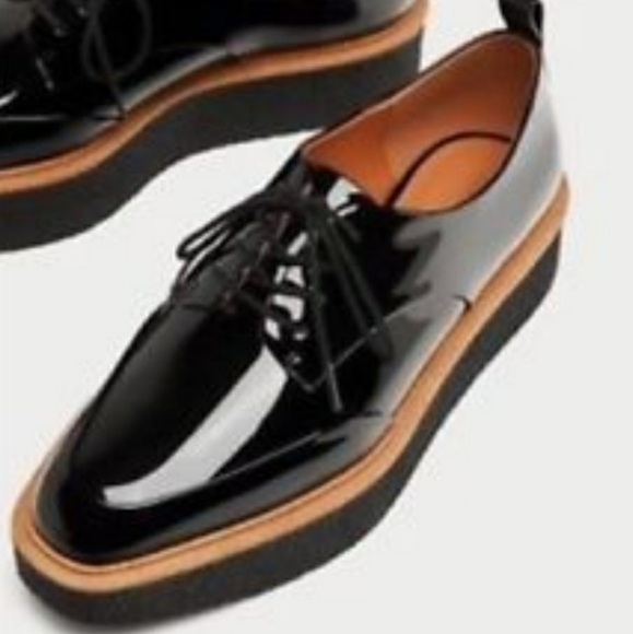 Zara Derby Platform Shoes